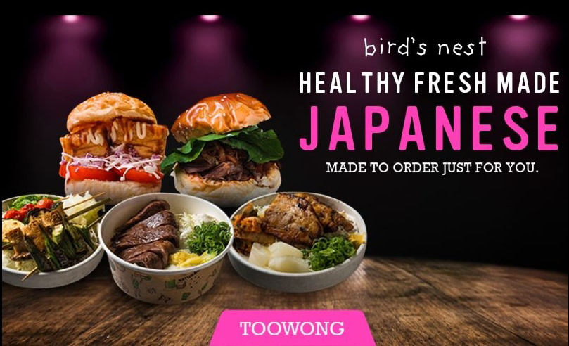 Healthy fresh Japanese meals poster by bird's nest in Toowong