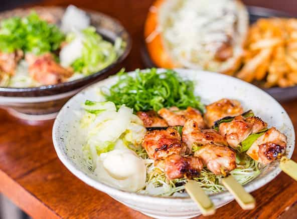 Japanese skewer meals at bird's nest restaurant