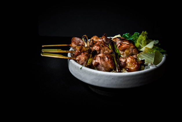 Negima, chicken with scallions skewers by Bird's Nest